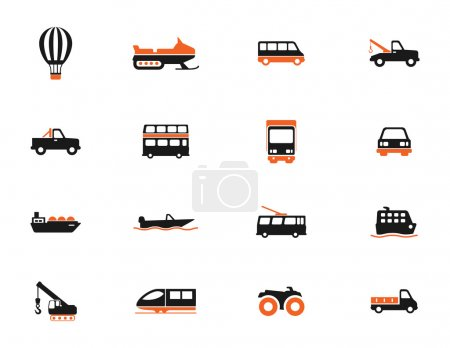 Transportation simply icons for web...