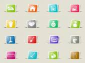 Cleaning service paper icons for web
