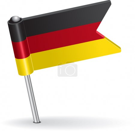 Germany pin icon flag. Vector illustration