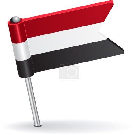 Yemen pin icon flag. Vector illustration