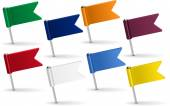Set of pin icon flags Vector illustration