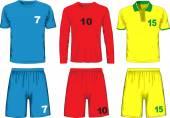 Set of different soccer uniform. Vector
