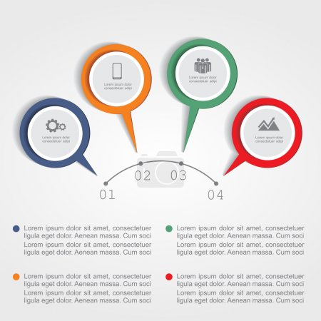 Illustration for Infographic design template. Vector illustration Eps 8 - Royalty Free Image