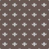 Abstract knitted seamless pattern background Vector illustration