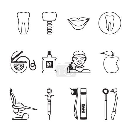 Set of dental icons