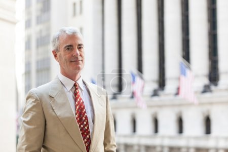 Senior Businessman in New York Financial District