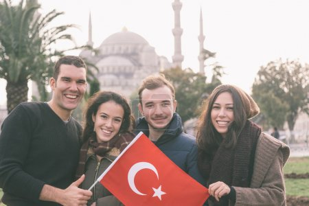 Group of Turkish Friends in Istanbul