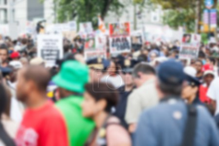 Photo for Thousands march in Staten Island. Blurred Background. - Royalty Free Image