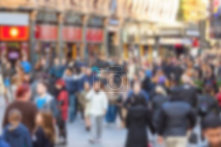Photo for Crowded street in London, blurred background - Royalty Free Image