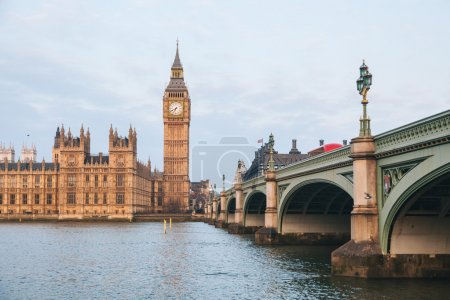 Big Ben and Parliament building at early morning in London