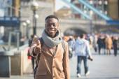 Successful young black man in London