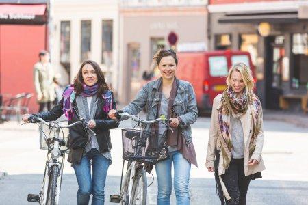 Group of women walking in Copenhagen