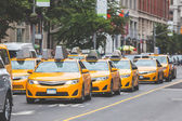 Typical yellow taxi in New York city