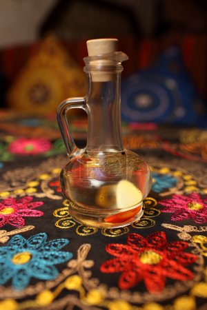 Decanter of flavored vinegar