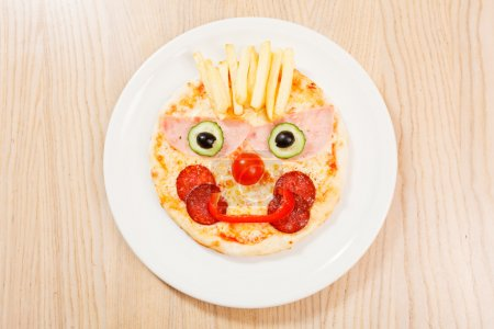 pizza for kids on plate