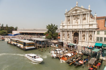 Harbor in Venice with boats