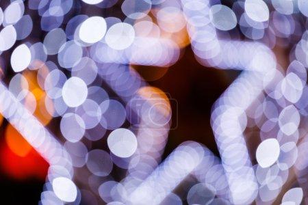 Photo pour Flou Noël lumières arrière-plan - image libre de droit