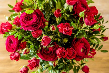 Photo for Red roses bouquet close up - Royalty Free Image