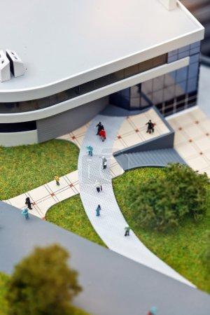 Photo pour Modèle de bâtiment moderne closeup - image libre de droit