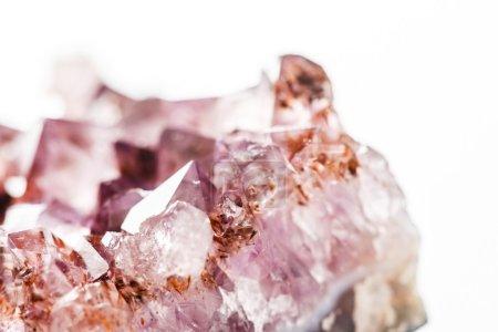 Beautiful amethyst stone closeup...