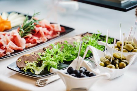 Photo for Catering banquet table close up - Royalty Free Image
