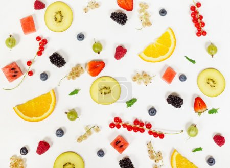 Colorful fruits background