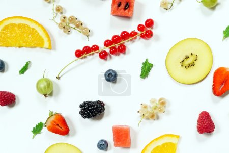 Photo for Colorful healthy natural fruits background - Royalty Free Image