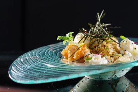 Gourmet seafood rice