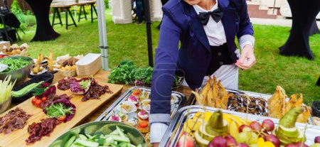 Waiter working at catering
