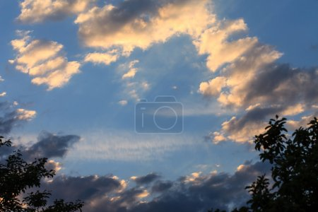 Picturesque cloudy sky