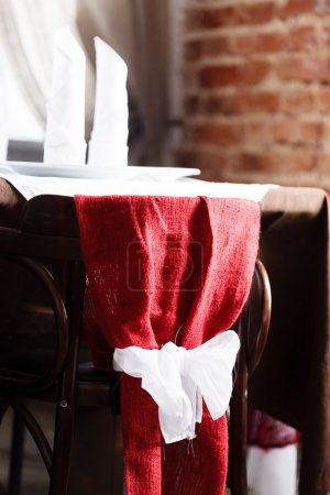 Photo pour Ensemble de table pour le repas au restaurant - image libre de droit