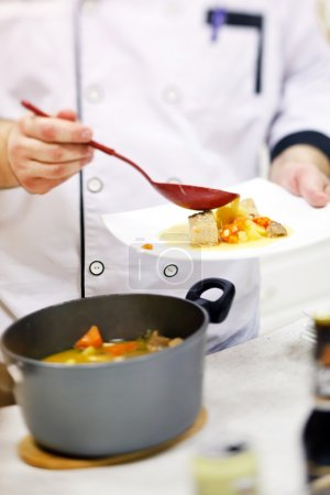 Photo for Chef at work closeup - Royalty Free Image