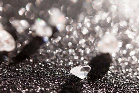 Diamonds on black background...