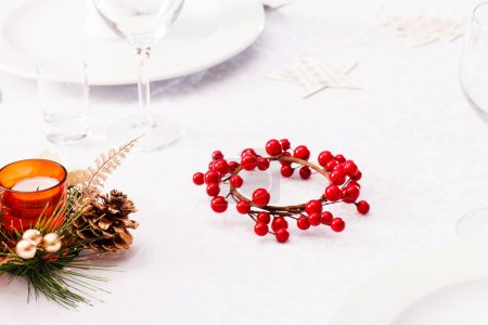 Christmas table with decorations