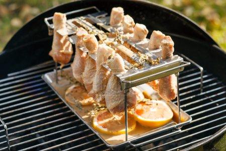 Outdoor cooked chicken