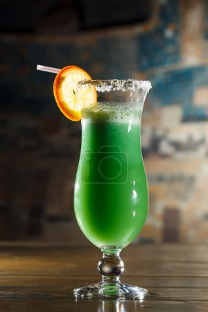 green Cocktail in the bar