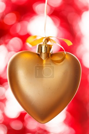 Golden  heart decoration