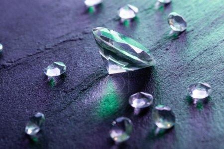 diamonds with purple light