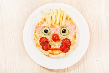 Pizza for kids with funny face