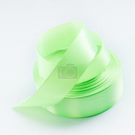 Green streamers ribbon tape