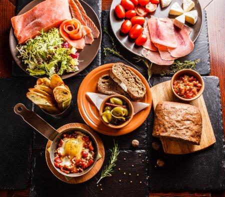 Spanish dinner  on table