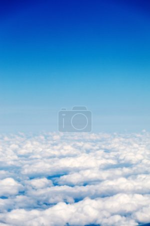 Photo for Blue sky with white clouds - Royalty Free Image
