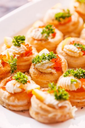 party Canapes with caviar