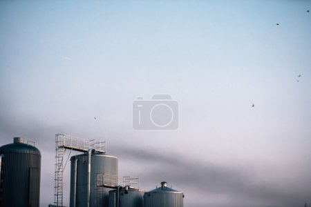 brewery factory with smoke