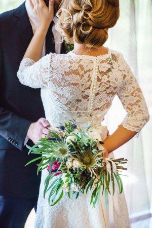 Photo pour Cérémonie de mariage romantique close up - image libre de droit