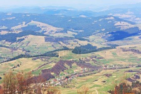Carpathian Mountains view