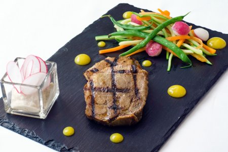 fresh steak with vegetables