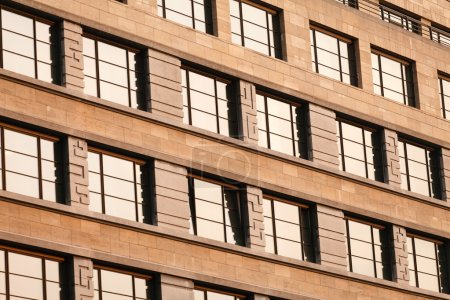 Photo for Structure of modern building windows - Royalty Free Image