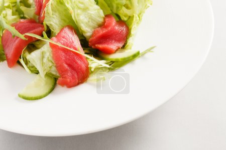 salad with tuna on plate