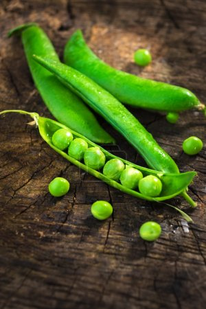 Photo for Fresh Homemade Peas close up view - Royalty Free Image
